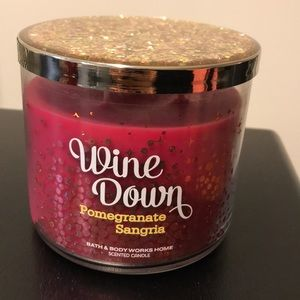 Accents - Bath and Body Works Wine Down 3 wick candle